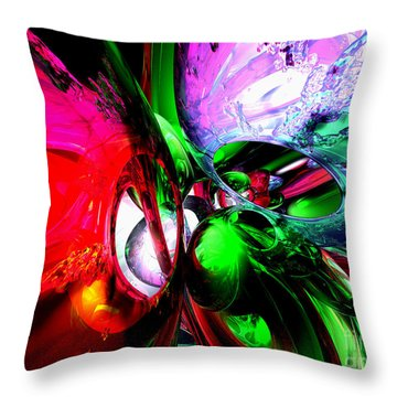 Color Carnival Abstract Throw Pillow by Alexander Butler
