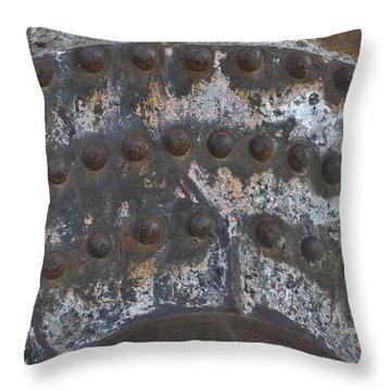 Color Of Steel 7a Throw Pillow by Fran Riley