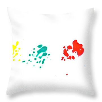 Color Splash Throw Pillow by Joana Kruse
