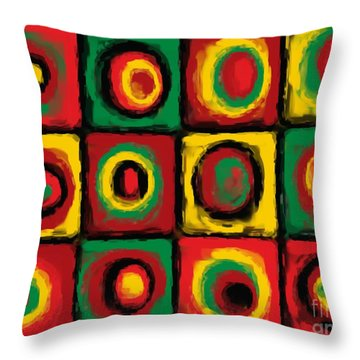 Color Study Of Caribbean Flowers Throw Pillow by Pet Serrano