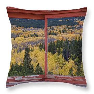 Colorado Red Rustic Picture Window Frame Photo Art Throw Pillow by James BO  Insogna