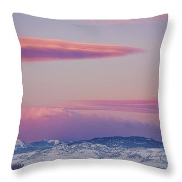 Colorado Winter Moon And Sunrise Throw Pillow by James BO  Insogna