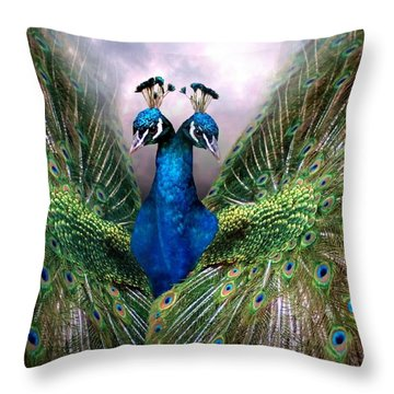 Colorful Friendship Throw Pillow by Bill Stephens