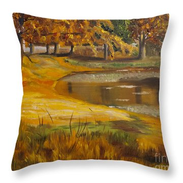Colorful Glory Throw Pillow by Art Hill Studios