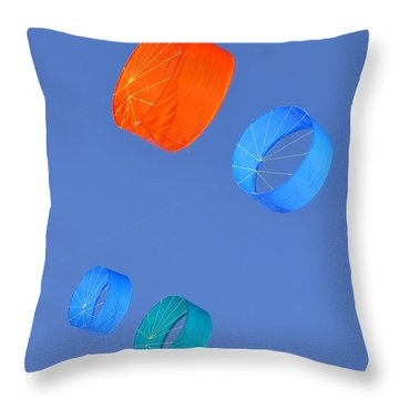 Colorful Kites Throw Pillow by David Lee Thompson