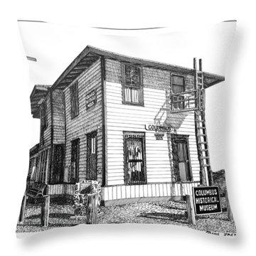 Columbus New Mexico  Throw Pillow by Jack Pumphrey