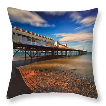 Colwyn Pier Throw Pillow by Adrian Evans