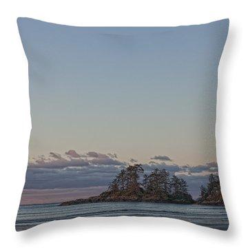 Combers Beach At Dawn, Tofino, British Throw Pillow by Robert Postma