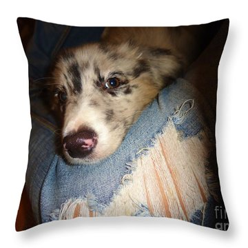 Comfy Blues Throw Pillow by Michelle Milano