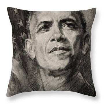 Commander-in-chief Throw Pillow by Ylli Haruni