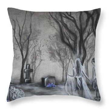 Communion Throw Pillow by Carla Carson