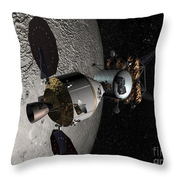 Concept Of The Orion Crew Exploration Throw Pillow by Stocktrek Images