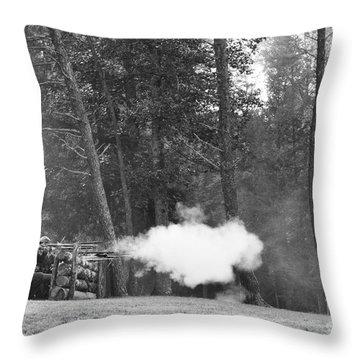 Confederate Breastworks Carnifax Ferry Throw Pillow by Thomas R Fletcher