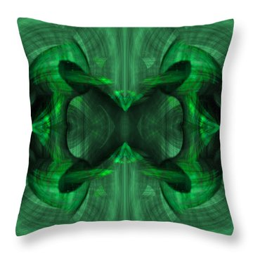 Conjoint - Emerald Throw Pillow by Christopher Gaston