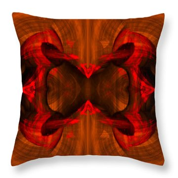 Conjoint - Rust Throw Pillow by Christopher Gaston