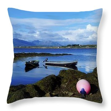 Connemara From Roundstone, Twelve Bens Throw Pillow by The Irish Image Collection