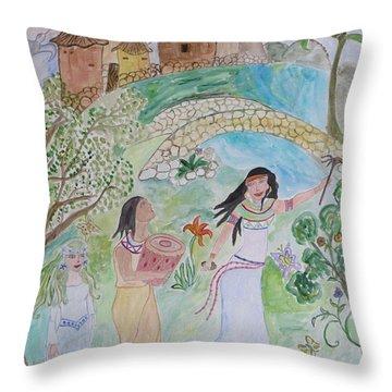 Contos De Fadas Throw Pillow by Sonali Gangane