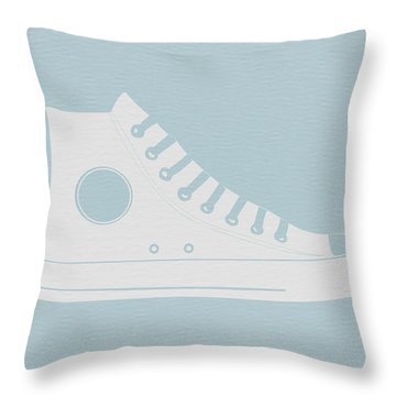 Converse Shoe Throw Pillow by Naxart Studio