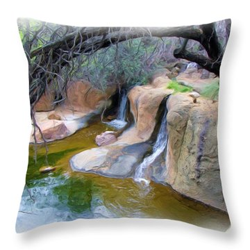 Cool Waters Throw Pillow by FeVa  Fotos