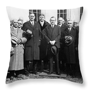 Coolidge: Freemasons, 1929 Throw Pillow by Granger