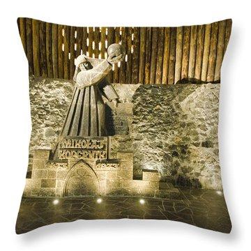 Copernicus - Wieliczka Salt Mine Throw Pillow by Jon Berghoff
