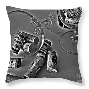 Corks 3 Throw Pillow by Cheryl Young