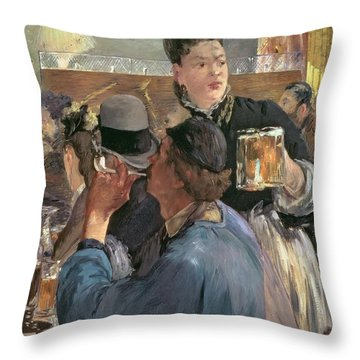 Corner Of A Cafe-concert Throw Pillow by Edouard Manet
