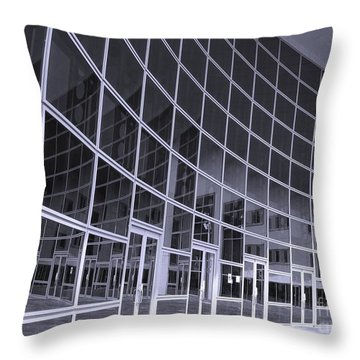 Corporate Building Throw Pillow by Yali Shi