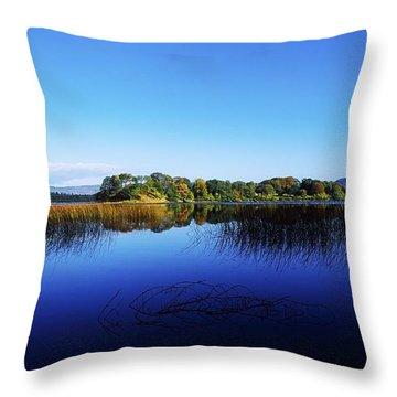 Cottage Island, Lough Gill, Co Sligo Throw Pillow by The Irish Image Collection