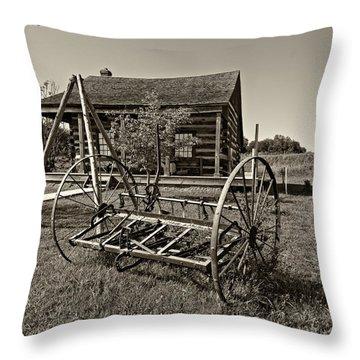 Country Classic Monochrome Throw Pillow by Steve Harrington