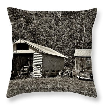 Country Life Sepia Throw Pillow by Steve Harrington