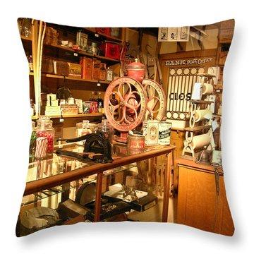 Country Store 1 Throw Pillow by Douglas Barnett