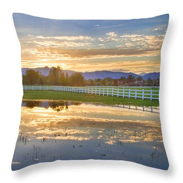 Country Sunset Reflection Throw Pillow by James BO  Insogna