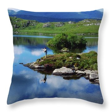 County Kerry, Ireland Fishing On Throw Pillow by Sici