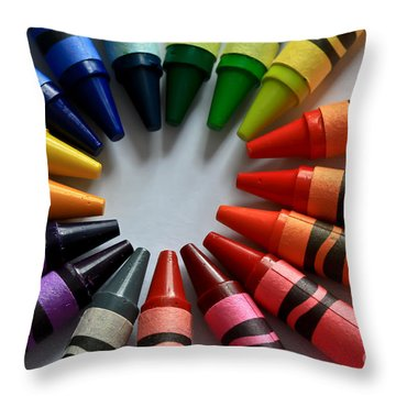 Crayola Color Throw Pillow by Tracy  Hall