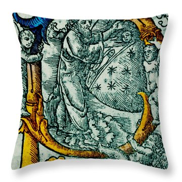Creation Giunta Pontificale 1520 Throw Pillow by Science Source