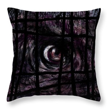 Creature Throw Pillow by Rachel Christine Nowicki
