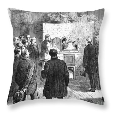 Cremation, 1876 Throw Pillow by Granger