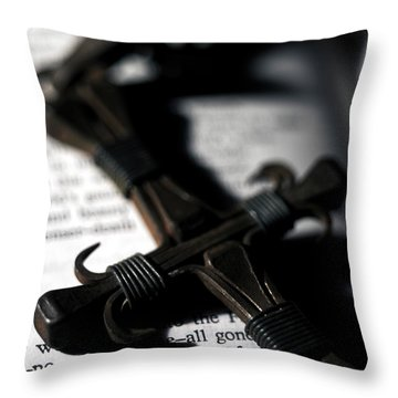Cross On A Book Throw Pillow by Fabrizio Troiani