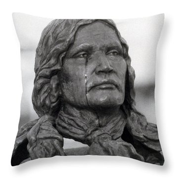 Crying Chief Niwot  Throw Pillow by James BO  Insogna