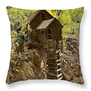 Crystal Mill 1 Throw Pillow by Marty Koch