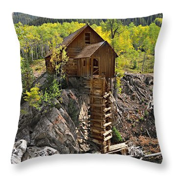 Crystal Mill 4 Throw Pillow by Marty Koch