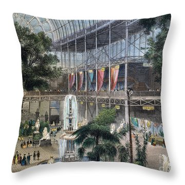 Crystal Palace Throw Pillow by Granger