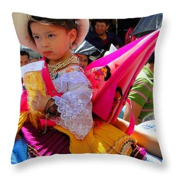 Cuenca Kids 116 Throw Pillow by Al Bourassa