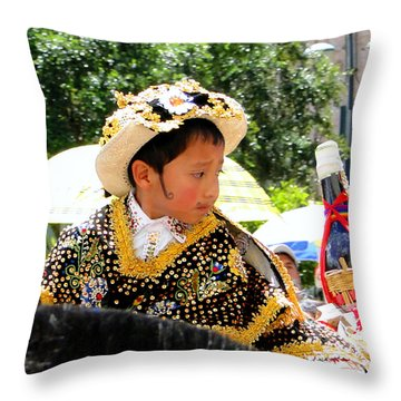 Cuenca Kids 125 Throw Pillow by Al Bourassa