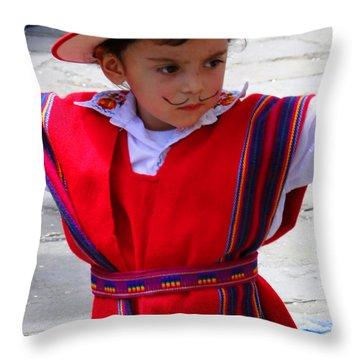 Cuenca Kids 68 Throw Pillow by Al Bourassa