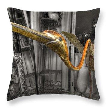 Curio Shop Window Throw Pillow by John Herzog