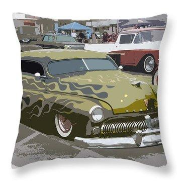 Custom Merc Throw Pillow by Steve McKinzie