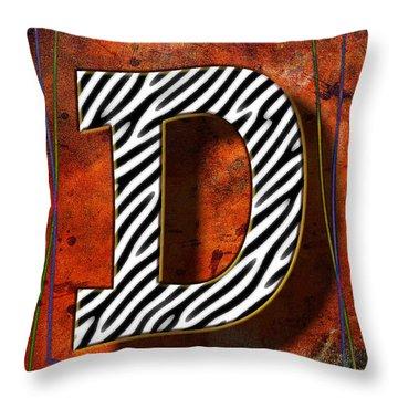 D Throw Pillow by Mauro Celotti