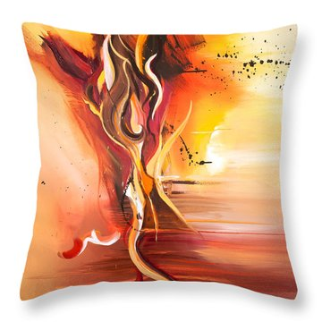 Dance Of Passion Throw Pillow by Michelle Wiarda